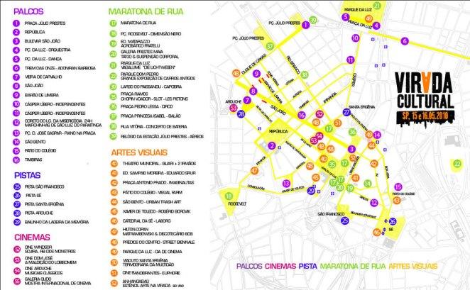 Mapa da Virada Cultural 2010