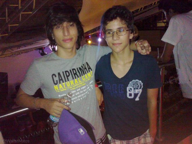 Lipe Marques e amigo Gustavo Muniz