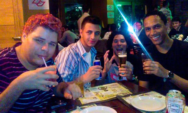 Bons drinks com Jow, Flavio e Ed.