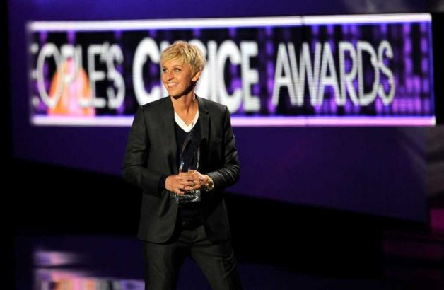 Ellen DeGeneres no People's Choice Awards 2012