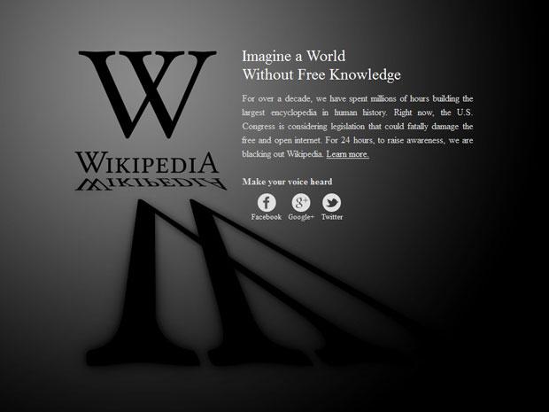 Wikipédia em inglês fica fora do ar