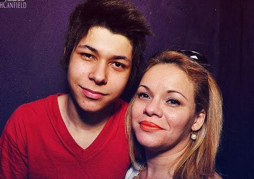 Dj Ricardo Rosa e sua mãe, Anita