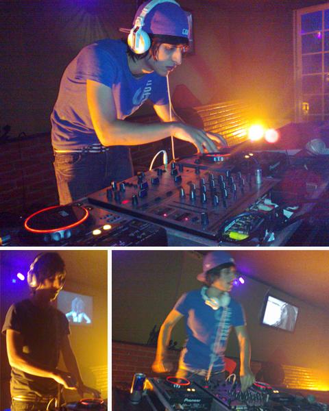 Dj Lipe Marques discotecando na Matinê Planet Live Club