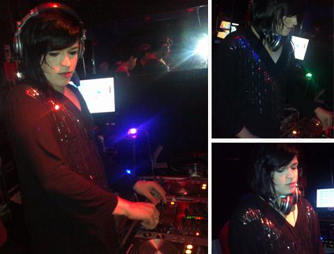 Rafa Ventura discotecando no Bofetada Club