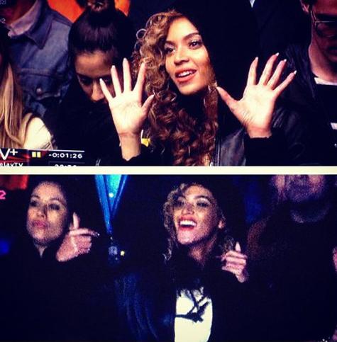 Beyonce curte show de Rihanna com Jay-Z