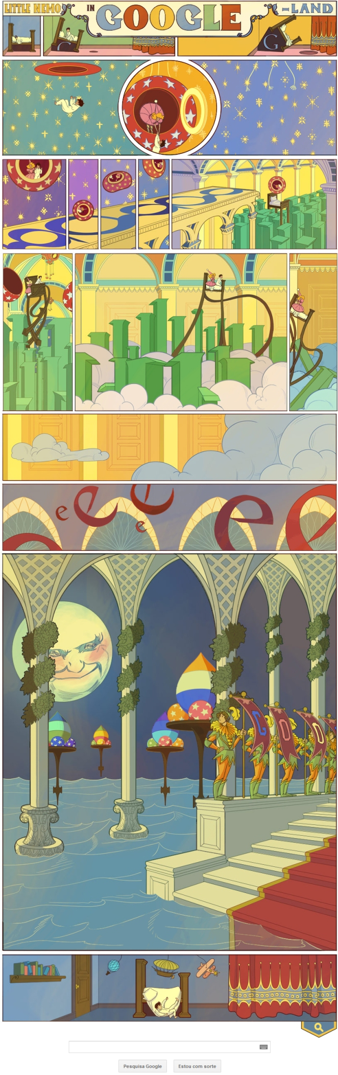 Doodle do Google homenageia o cartunista Winsor McCay