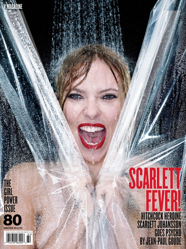 "Scarlett Johansson recria ""Psicose"" na capa da Revista V"