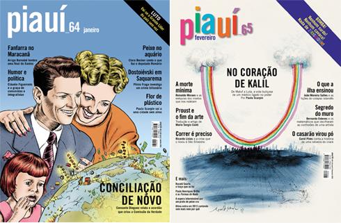 Capas da Revista Piauí Ed. 64 e 65