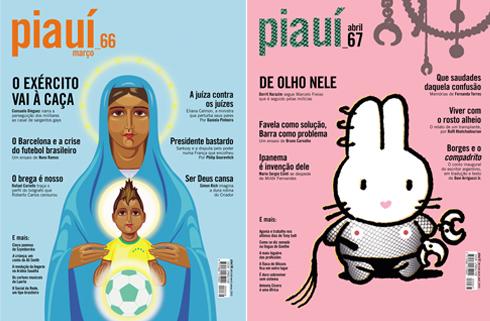 Capas da Revista Piauí Ed. 66 e 67