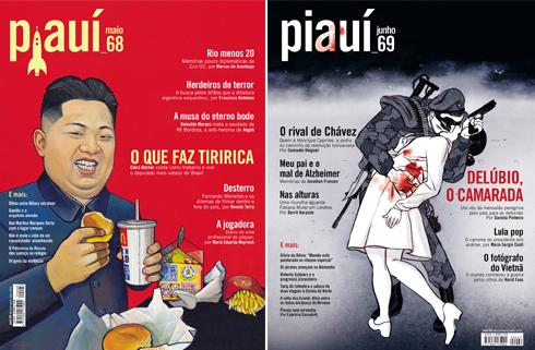 Capas da Revista Piauí Ed. 68 e 69