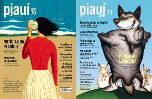 Capas da Revista Piauí Ed. 70 e 71