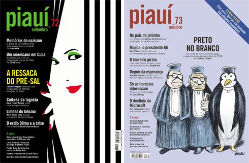 Capas da Revista Piauí Ed. 72 e 73