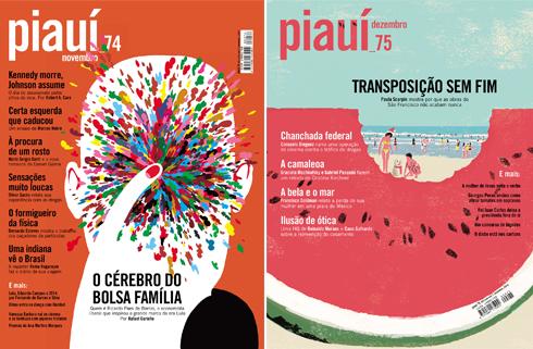 Capas da Revista Piauí Ed. 74 e 75