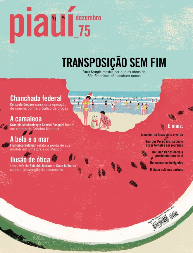 Capa da Revista Piauí Ed. 75. A minha preferida de 2012